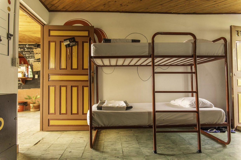 8 metalbeds dorm with open door