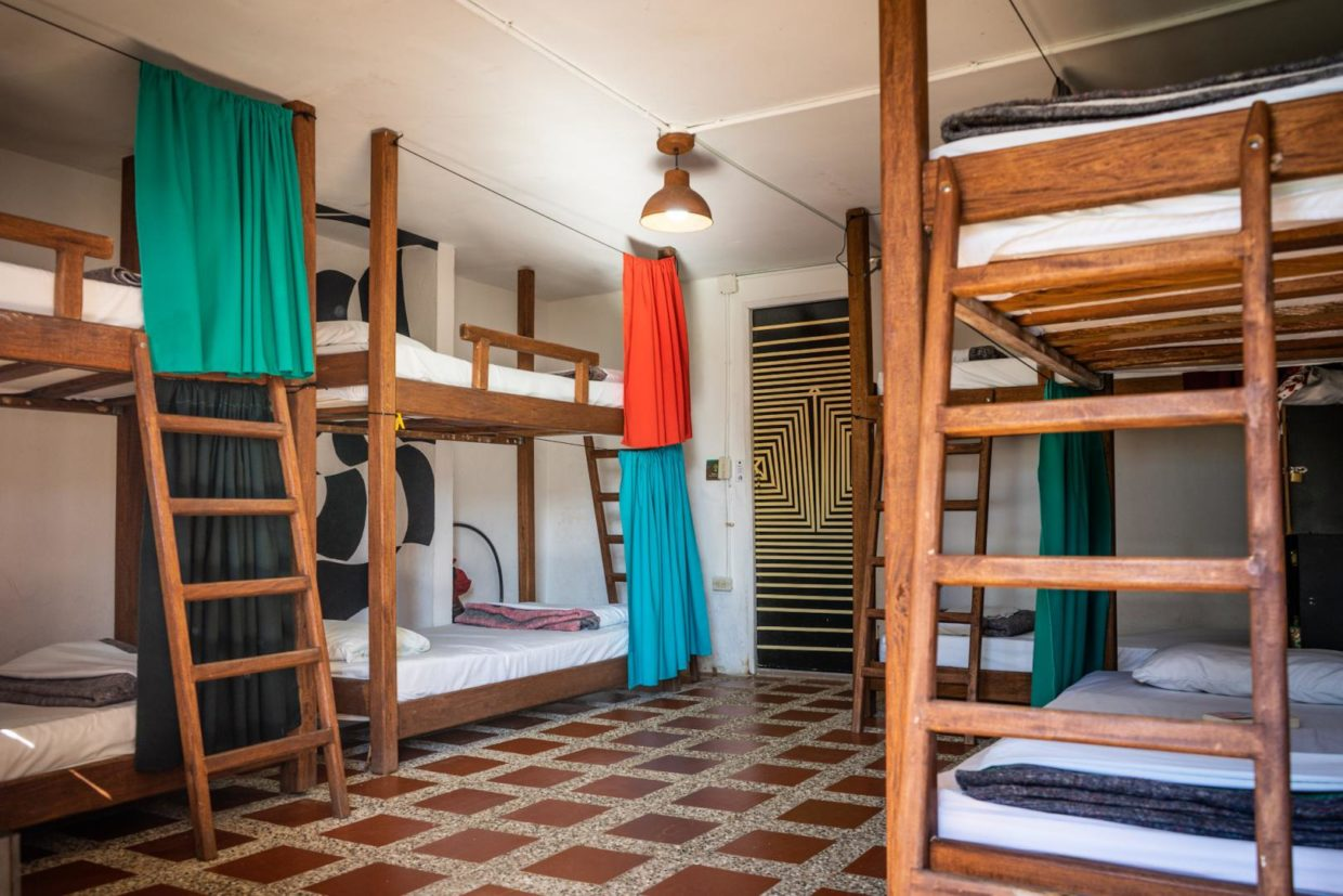 Bunkbeds of our 8 beds dorm with bathroom