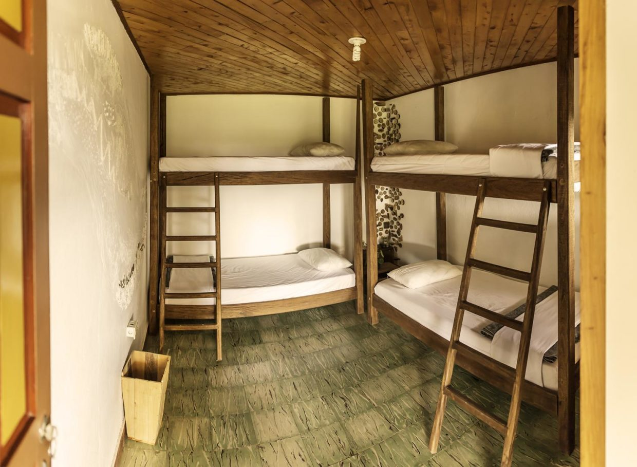 Bunkbeds of 4 beds dorm Tusi