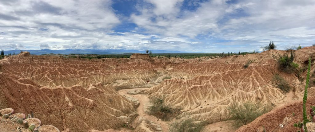 Landscape of Tatacoa desert in Colombia